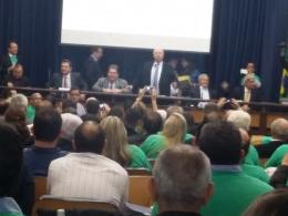 Lideres e executivo das Aces do estado de São Paulo reunidos na Assembleia Legislativa para derrubar a Lei do AR. Somos a favor do consumido